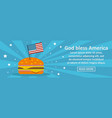 god bless america banner horizontal concept vector image