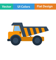 Flat design icon of tipper vector image