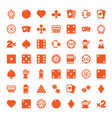 49 gamble icons vector image vector image