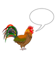 A rooster with a talking bubble vector image vector image