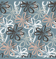 abstract pattern with contrast simple flowers vector image vector image