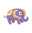 adorable cartoon elephant character posing vector image vector image