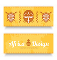 African Tribal Art Banners vector image