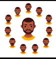 american african men facial expression vector image vector image