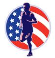 american marathon vector image vector image