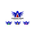 auto wing logo vector image
