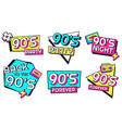 back to 90s memphis style elements for invitation vector image vector image