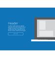 background banner laptop vector image