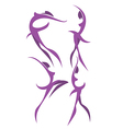 ballet poses vector image vector image