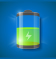 battery level indicator vector image vector image