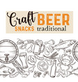 beer seamless border vector image