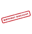 Birthday Discount Text Rubber Stamp vector image vector image