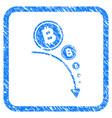 bitcoin deflation trend framed stamp vector image vector image