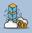 bitcoin digital money security technology vector image