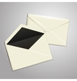 Blank white envelopes opened and close vector image vector image