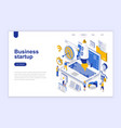 business startup modern flat design isometric vector image