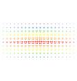buzzer spectral halftone effect vector image vector image