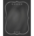 chalk board and drawn frame vector image
