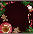 christmas celebration with hot cocoa vector image vector image