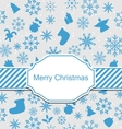 christmas greeting invitation vector image vector image