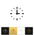 Clock sign or round time icon vector image vector image