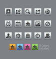 communications interface icons - satinbox series vector image