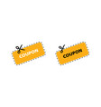 coupon icon discount coupons icons coupon icons vector image vector image