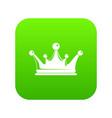 crown icon green vector image