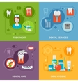 Dental Care Concept Icons Set vector image