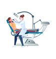dentistry flat icon vector image vector image