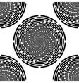 Design seamless monochrome spiral background vector image vector image