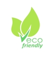 Eco friendly green leaves logo vector image vector image