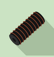 electric spring coil icon flat style vector image vector image