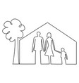 family home security vector image vector image