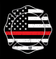 firefighter thin red line badge emblem vector image vector image