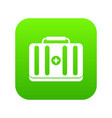 first aid kit icon digital green vector image