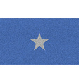 Flags Somalia on denim texture vector image vector image