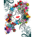 floral face vector image vector image