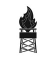 gas toweroil single icon in black style vector image vector image