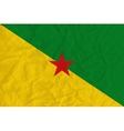Guiana paper flag vector image vector image