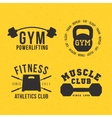 Gym badges vector image vector image
