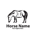 horse logo designs vector image
