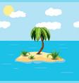 ill a tropical island on sky back vector image