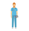 male doctor of a smiling vector image vector image