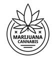 marijuana symbol logo outline style vector image vector image