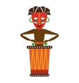 mask african culture icon vector image