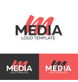 media logo letter m logo logo template vector image