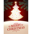 merry christmas cute design with gingerbread vector image vector image