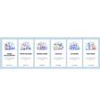 mobile app onboarding screens game development vector image vector image