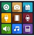 Multimedia flat icons set 2 vector image vector image